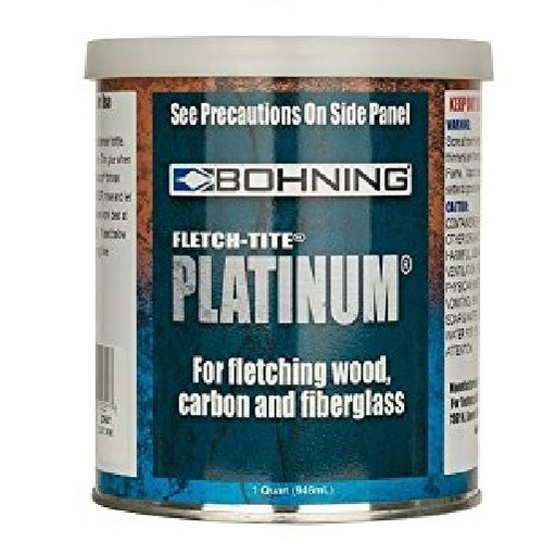 New Bohning Fletch-Tite Platinum Fletching Adhesive Quart Can