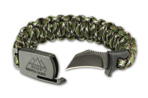 New Outdoor Edge PCC-80C Para-Claw Paracord Knife Survival Bracelet Camo Size Medium