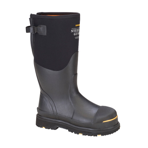 Steel-Toe Gusset Men's Hi Boot Black/Yellow
