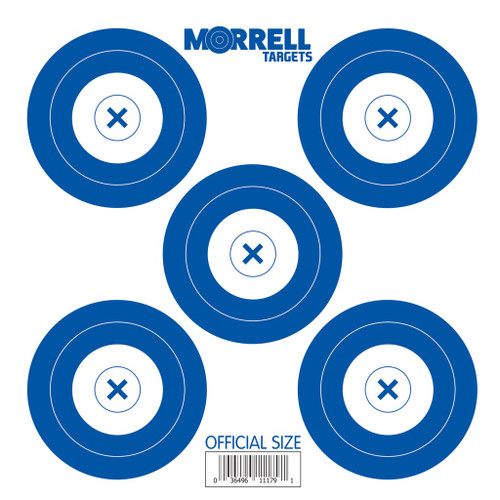 New Morrell Targets 5 Spot Paper Archery Target Faces 100 PACK