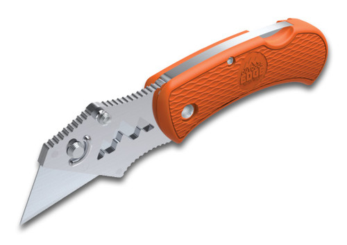 Outdoor Edge BOB-10C Box Opening Assistant Razor Blade Folding Utility Knife -- Orange