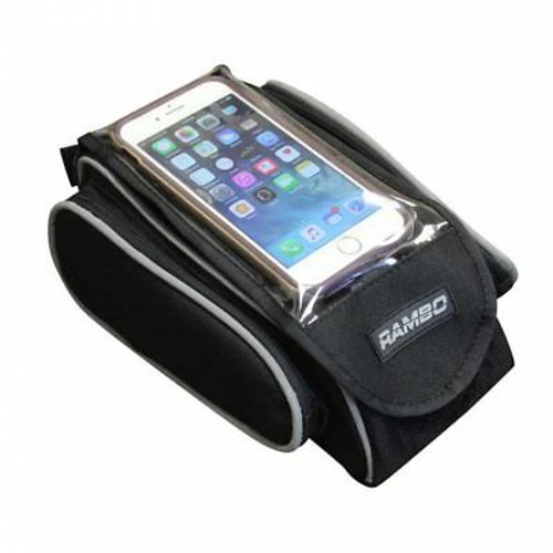 New 2019 Rambo Mountain Bike Cell Phone Accessory Bag Black Hunting Camping R153