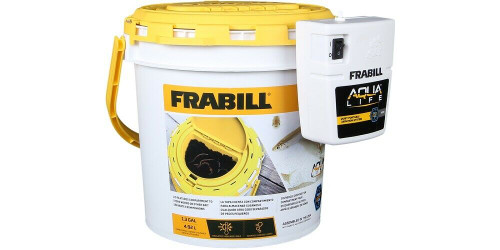 New Plano Frabill Insulated Dual Bait Bucket with Aerator Model # 4823