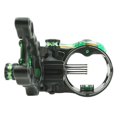New IQ Micro Retina Lock Bow-Sight 5 Pin (.019) Archery Compound LH Black