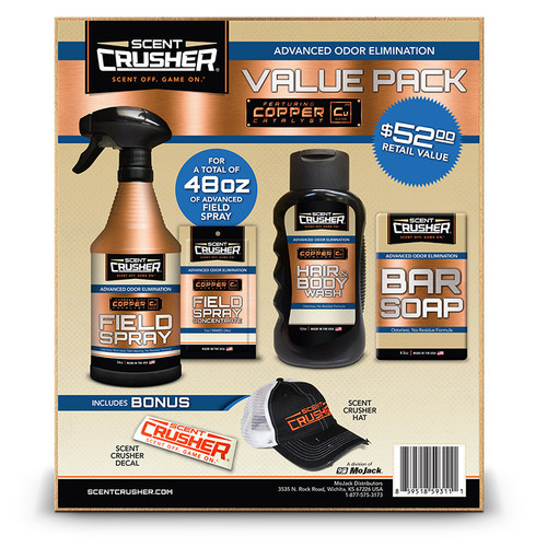 New Scent Crusher Scent Elimination Field Spray Pack Model