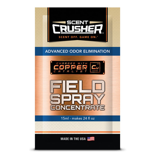 New Scent Crusher Field Spray Concentrate makes 24oz Spray Model