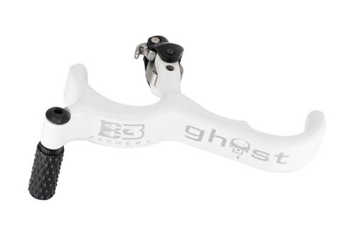New B3 Archery Ghost 3 Finger Back Tension Release White Model