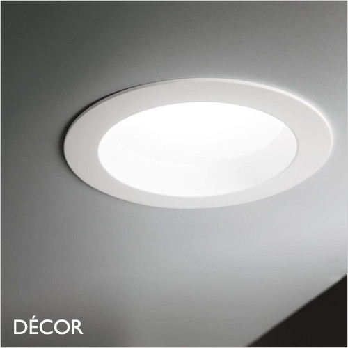 Groove, Round, Warm or Neutral White Light, 3 Sizes - Modern Designer Recessed Ceiling Downlight/Spotlight - Minimalist Italian Design For Any Contemporary Space
