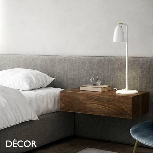 Nexus 2 - Matt White Modern Designer Desk Light - Contemporary Minimalist Design for a Study, Workspace, Bedside, Lamp Table & Living Room. DFTP