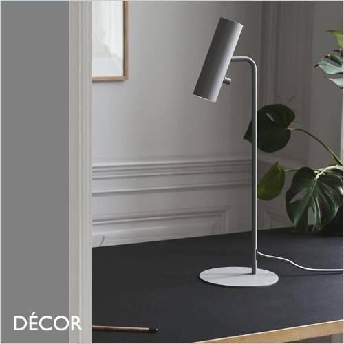A1. MIB 6 - Grey Modern Designer Desk Light - Contemporary Scandinavian Design - Ideal for a Bedside, Desk, Office, Study, Workspace & Studio. DFTP