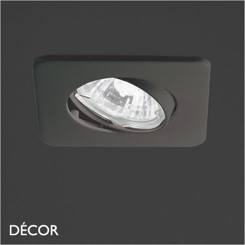 Lounge - Black Modern Designer Directional Recessed Ceiling Downlight/Spotlight - Minimalist Design For Any Contemporary Interior Space