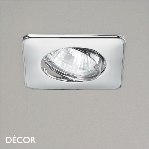 Lounge - Chrome Modern Designer Directional Recessed Ceiling Downlight/Spotlight - Minimalist Design For Any Contemporary Interior Space