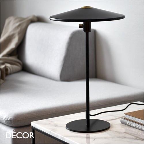 Balance - Matt Black Modern Designer Table Lamp, Dimmable - Danish Design for a Living Room, Study, Reception Room or Bedside