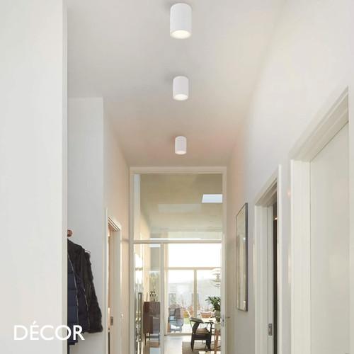 Fallon Long, MoodMaker™ - Matt White Modern Designer Tubular LED Downlight/Spotlight - Stylish Danish Design For Any Contemporary Space
