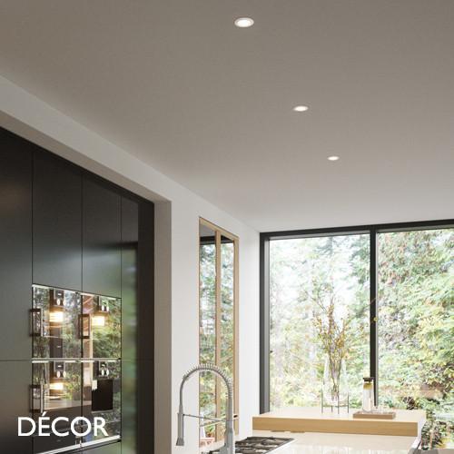 Elkton, MoodMaker™ - Matt White Modern Designer LED Recessed Downlight/Spotlight - Ultra-Modern Danish Design For Any Contemporary Space