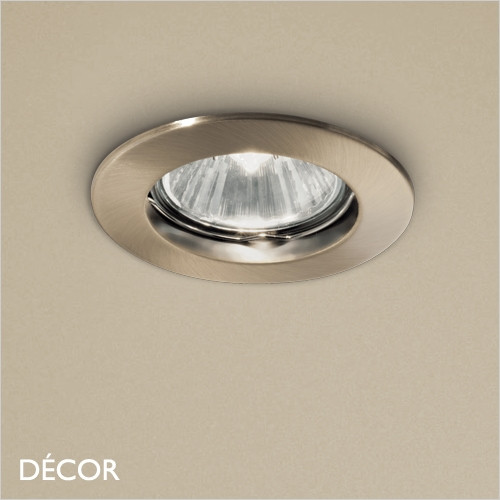 A1 Jazz - Brass Modern Designer Recessed Ceiling Downlight/Spotlight - Stylish Italian Design For Any Contemporary Space. Perfect for Home & Business
