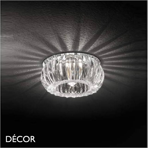 A1 Soul, Round - Cut Crystal Glass Decorative Modern Designer Recessed Ceiling Downlight/Spotlight - Luxurious Italian Design For Any Contemporary Space
