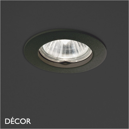 Jazz - Black Modern Designer Recessed Ceiling Downlight/Spotlight - Stylish Italian Design For Any Contemporary Space. Perfect for Home & Business