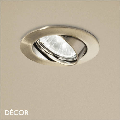 Swing - Brass Modern Designer Directional Recessed Ceiling Downlight/Spotlight - Minimalist Design For Any Contemporary Interior Space