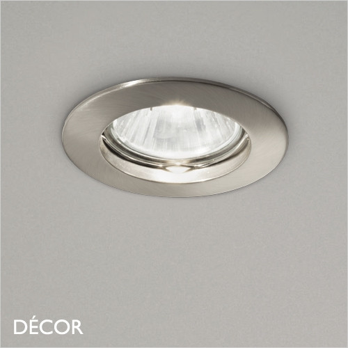Jazz - Nickel Modern Designer Recessed Ceiling Downlight/Spotlight - Stylish Italian Design For Any Contemporary Space. Perfect for Home & Business