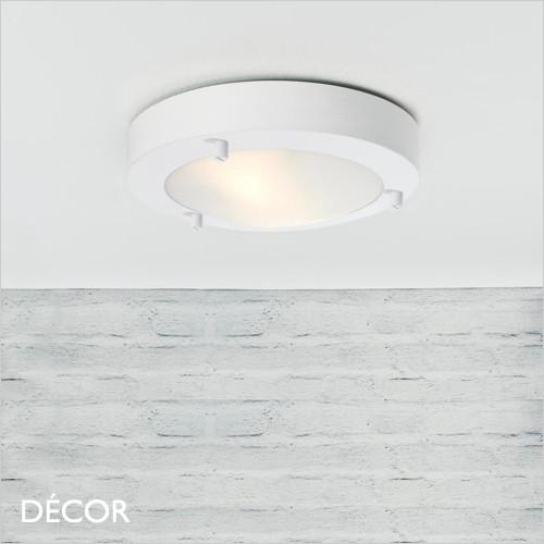 C1 Ancona 18, LED - White Modern Designer Flush Fitting LED Ceiling Light - Minimalist Danish Design For Any Contemporary Living Space - Home or Business