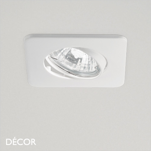 Lounge - White Modern Designer Directional Recessed Ceiling Downlight/Spotlight - Minimalist Design For Any Contemporary Interior Space