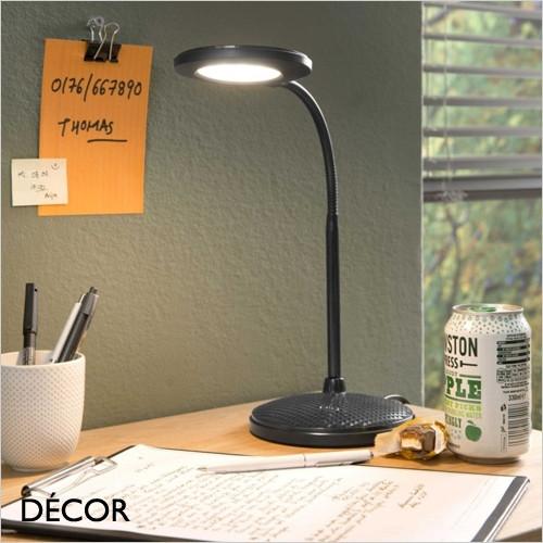 Dove - Black Modern Designer Desk Light  - Ideal for your Desk, Office, Study, Workspace, Bedside, Lamp Table, Living Room & Lounge