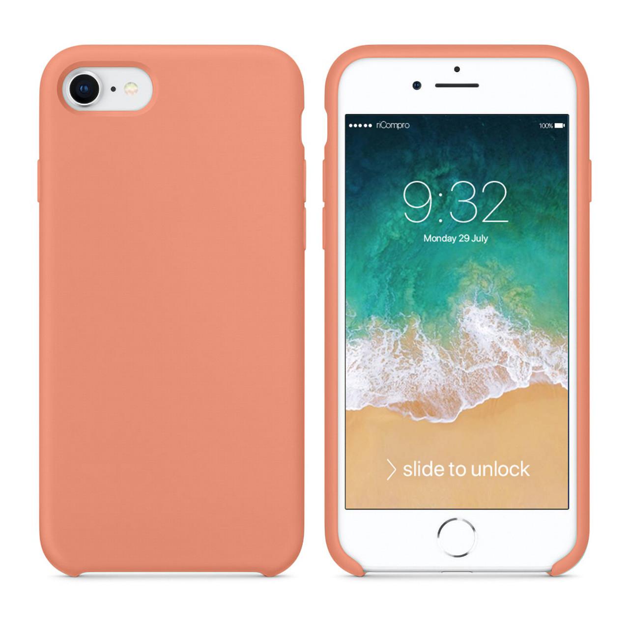 Cover Silicone Liquido per iPhone 7 e iPhone 8 Rossa Begonia