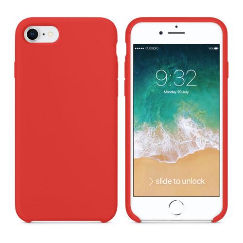 Cover Silicone Liquido per iPhone 7 e iPhone 8 Rossa
