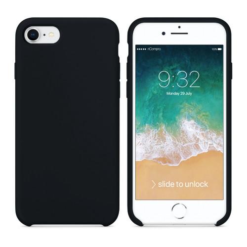 Cover Silicone Liquido per iPhone 7 e iPhone 8 Nera