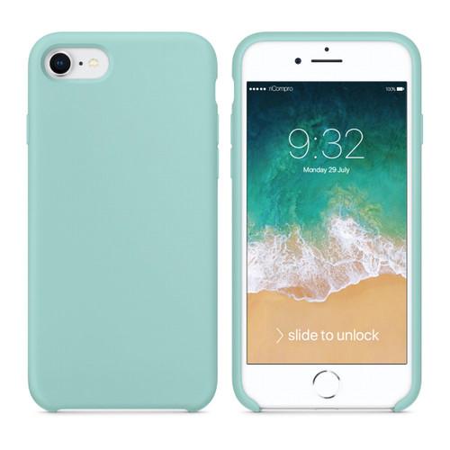 Cover Silicone Liquido per iPhone 7 e iPhone 8 Verde Marino