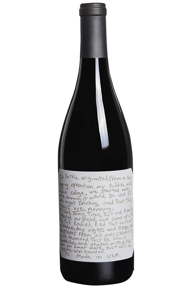 Sexual chocolate red blend wine