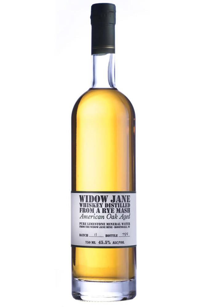 Widow Jane Whiskey Distilled from Rye Mash Oak Aged