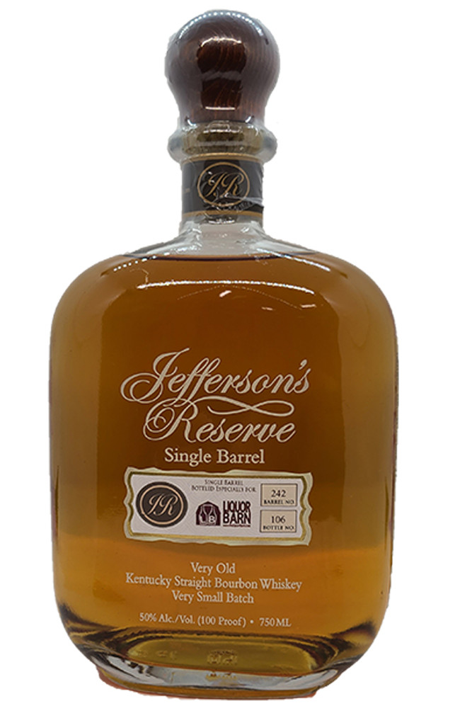 Jeffersons Reserve Liquor Barn Single Barrel Bourbon