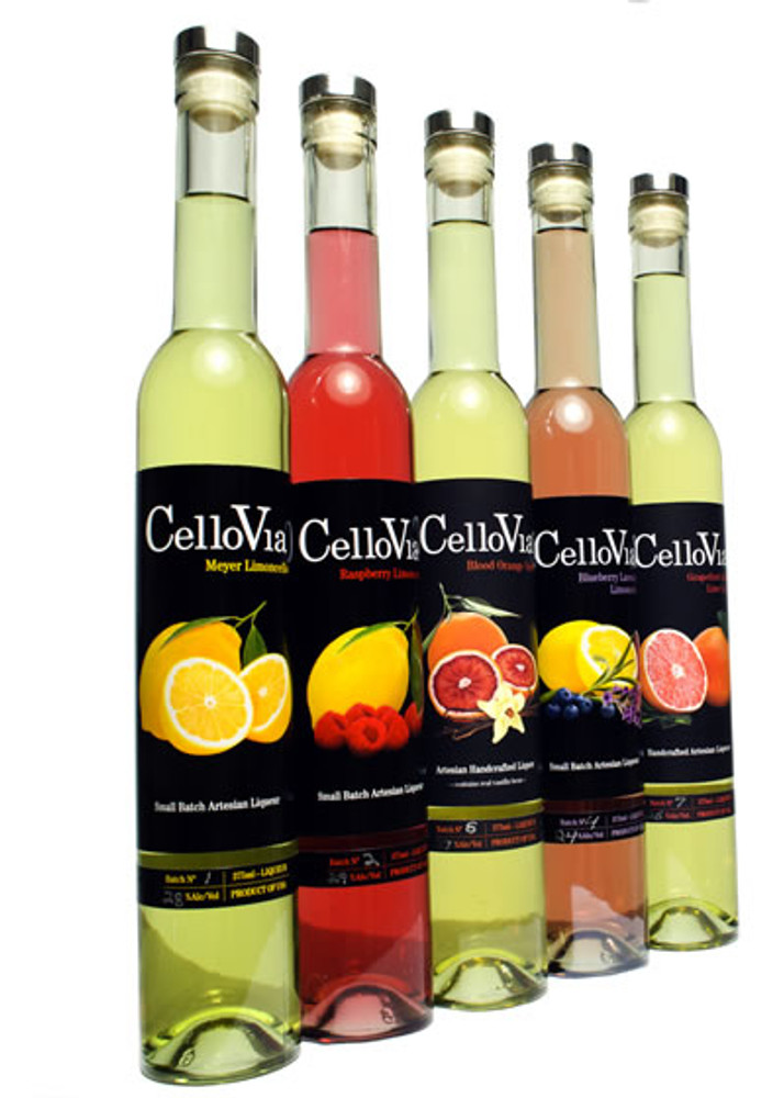 CelloVia Blueberry Lavender Limoncello 375ML