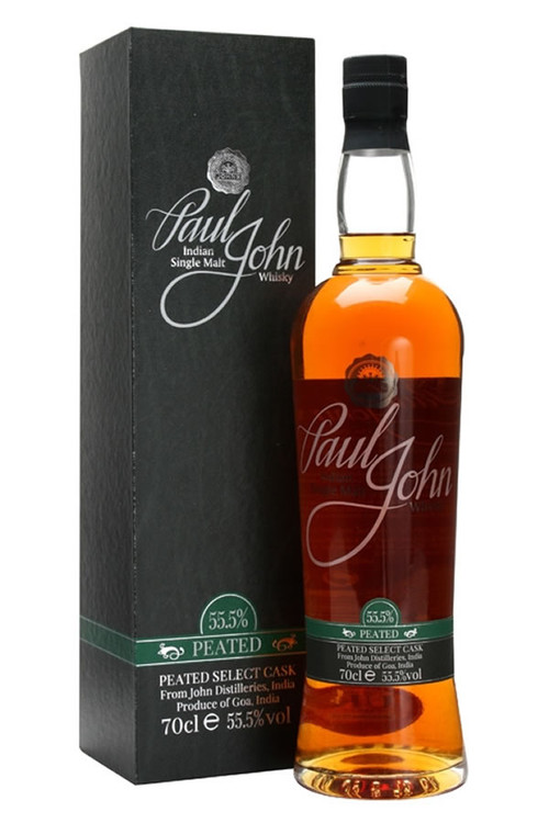 Paul John Peated Cask Strength Indian Single Malt 750ML