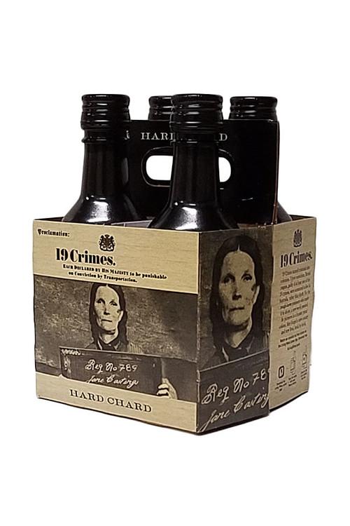 19 Crimes Hard Chardonnay 187ML 4 Pack