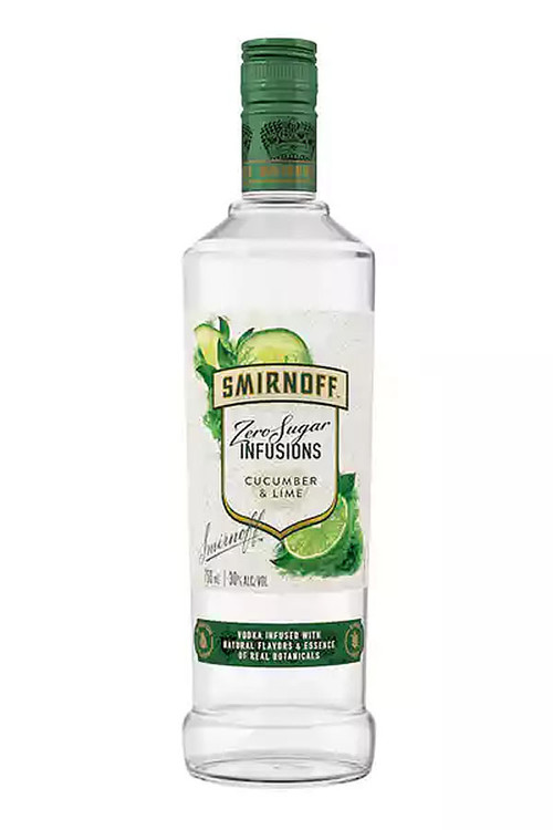 Smirnoff Zero Sugar Infusions Cucumber & Lime