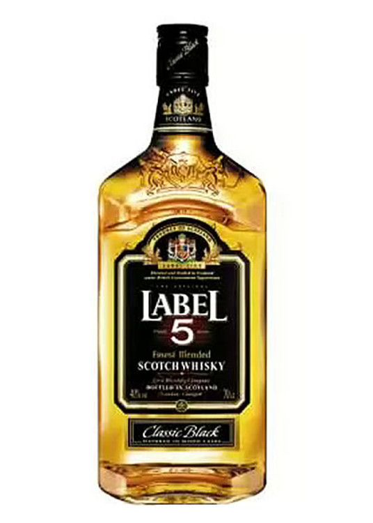 label 5 scotch 750ml liquor barn
