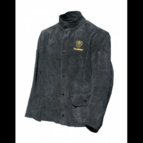 Tillman 3281XL Premium Black Cowhide Leather Welding Jacket, XL