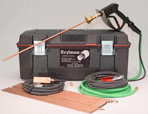 Oxylance JRSC2024S, Sure Cut Tool Box Kit w/ Sure Cut holder, oxygen hose, welding leads, 24 rods