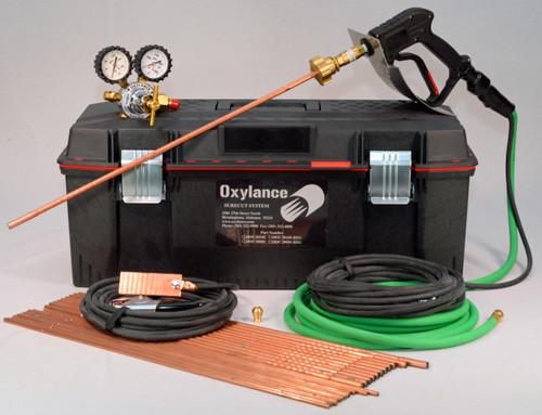 Oxylance JRSC2024S-REG, Sure Cut Tool Box Kit w/ Sure Cut holder, oxygen hose, welding leads, 24 rods and high flow oxygen regulator