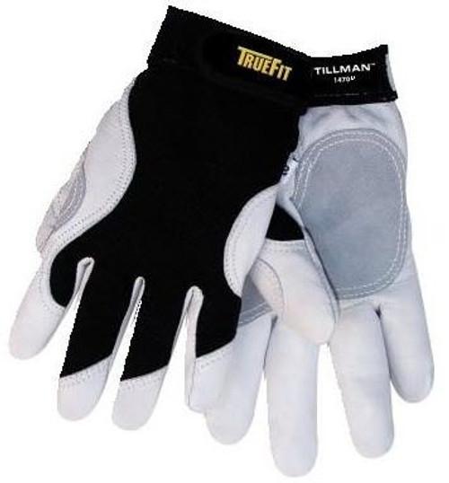 Tillman 1470KXL TrueFit ANSI A2 Cut Resistant Glove, Goatskin with Kevlar lined palm, Spandex back, X-Large