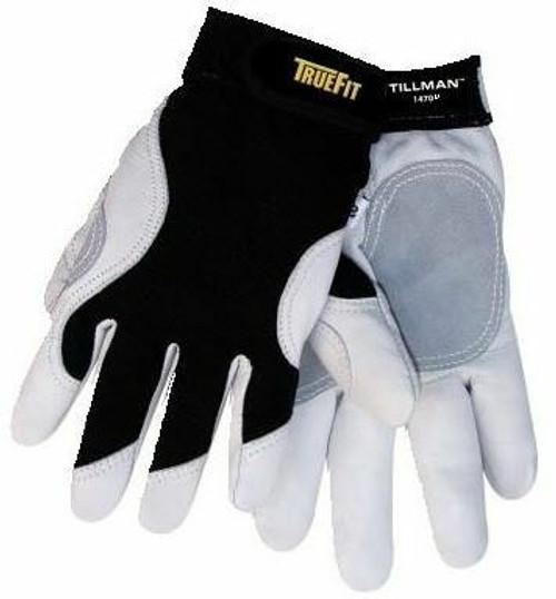Tillman 1470KL TrueFit ANSI A2 Cut Resistant Glove, Goatskin with Kevlar lined palm, Spandex back, Large
