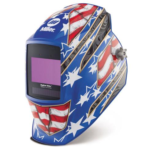Miller Digital Elite™ Helmet, Stars & Stripes III™ Auto-Darkening with ClearLight™ Lens (281002)