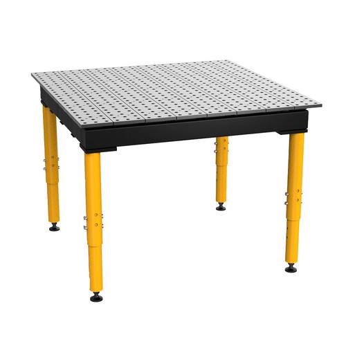 "BuildPro® TMR54848F, 4' x 4' MAX Welding Table, Standard Finish, Adjustable Heavy-Duty Legs, Table Surface Height 28.5"" - 38.5"""