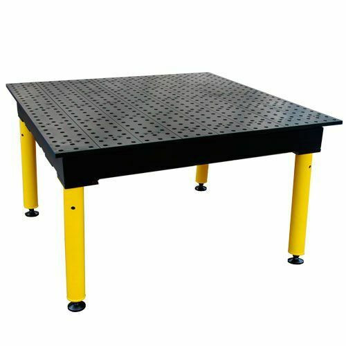 "BuildPro® TMQA54848F, 4' x 4' MAX Welding Table, Nitrided Finish,  Heavy-Duty Legs, Table Surface Height 36.5"""