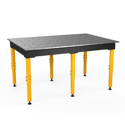 "BuildPro® TMR57248F, 6' x 4' MAX Welding Table, Standard Finish, Adjustable Heavy-Duty Legs, Table Surface Height 28.5"" - 38.5"""