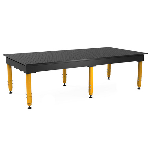 """BuildPro® TMQR59648F, 8' x 4' MAX Welding Table, Nitrided Finish, Adjustable Heavy-Duty Legs, Table Surface Height 28.5"""" - 38.5"""""""