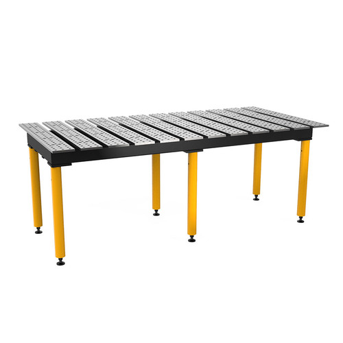 """BuildPro® TMA59446, 8' x 4' MAX Slotted Welding Table, Standard Finish, Heavy-Duty Legs, Table Surface Height 36.5"""""""